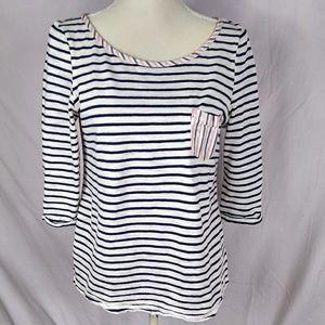 Postmark Anthropologie Stripes shirt sz m